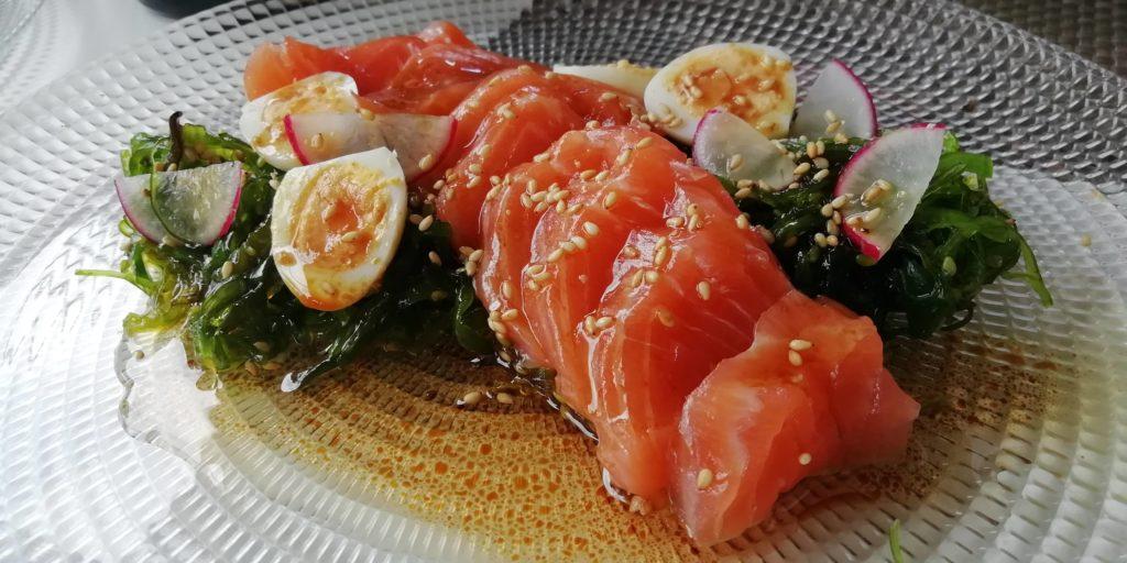 Ensalada de wakame y salmón Celia Jiménez Arena Snack Bar
